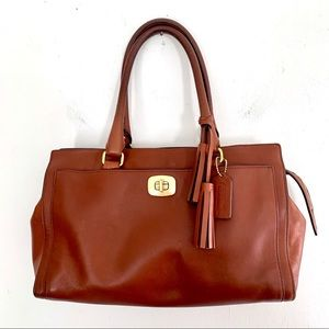 Coach VTG Large Legacy Chelsea in Saddle Brown